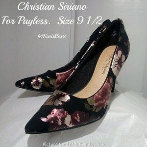 ❗2/$20❗Christian Siriano Floral Payless Heels EUC